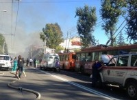 Пожар в магазине техники в Иркутске