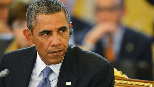 Барак Обама во время рабочего заседания глав делегаций государств-участников Группы двадцати