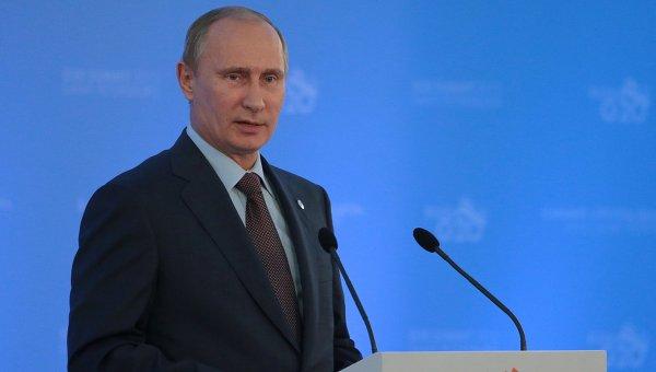 Пресс-конференция В. Путина по итогам встречи лидеров Группы двадцати