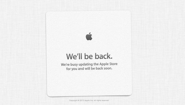 Cайт онлайн-магазина Apple Store