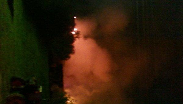 Пожар в психоневрологического интерната Оксочи в деревне Лука