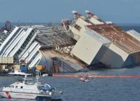Операция по подъему круизного лайнера Costa Concordia, фото с места событий