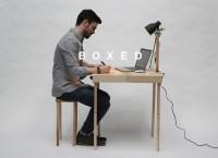 Стол, стул и лампа в одном чемодане: BOXED