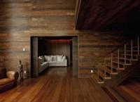 Деревянный интерьер резиденции в Сан-Паулу