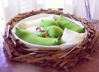 креативная кровать в форме гнезда