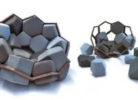 Кресло-конструктор Quartz Chair из пены