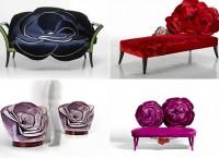 Цветочная коллекция мебели от компании Sicis