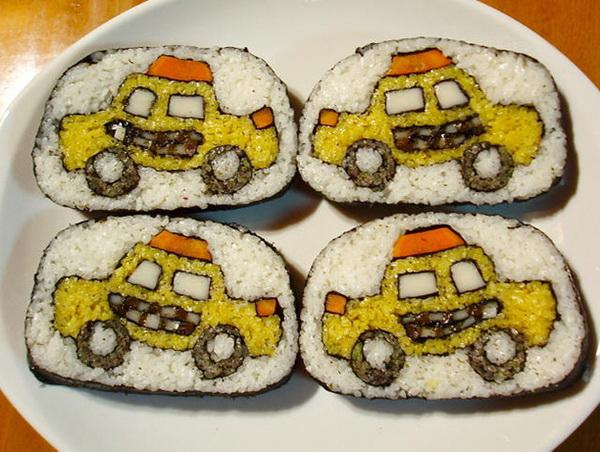 роллы с изображением такси