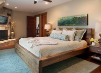 Современные деревянные кровати в деревенском стиле