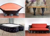 Project RUBBER - мебель из резиновых камер