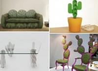 Креативная мебель в виде кактусов