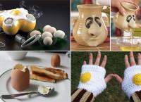 Интересные дизайнерские решения на яичную тему