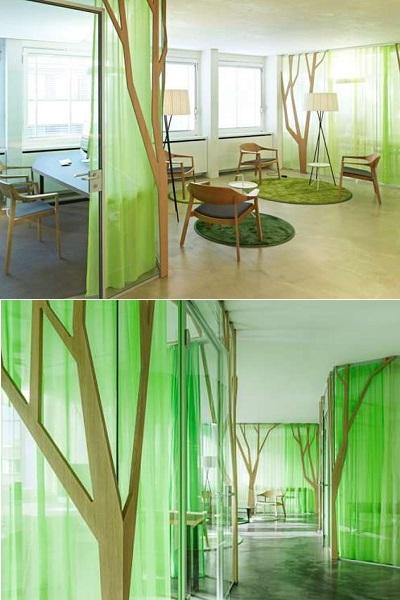 'Денежные' деревья в интерьере офисов My Money Park