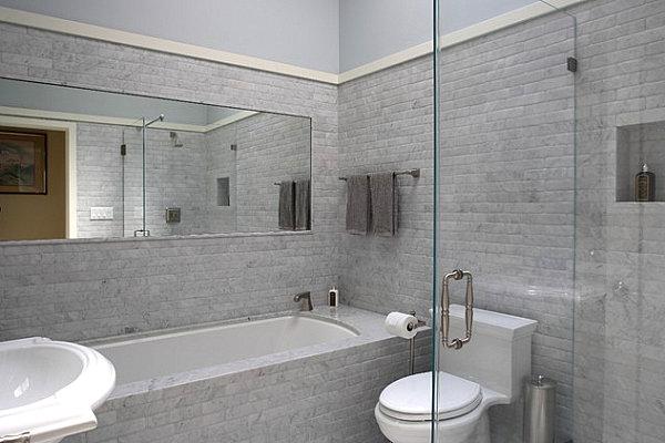 Мужская ванная комната в строгом стиле