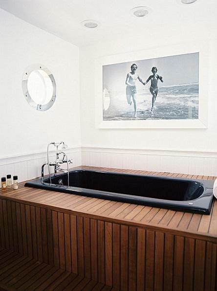 Мужская ванная комната в морском стиле