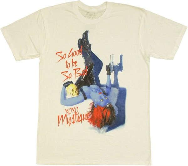 X-Men T-Shirt - забавная футболка для поклонников комиксов и стиля pin-up