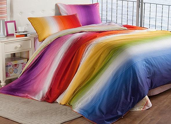 Радужный постельный комплект