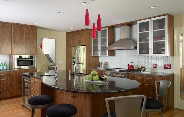 Кухонная стойка с круглой столешницей от Indicia Interior Design