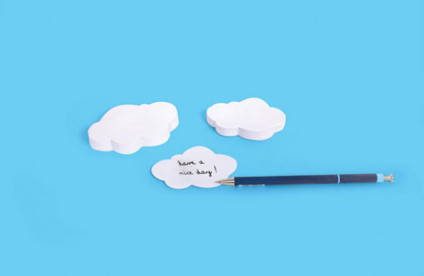 стикеры для заметок в виде облаков