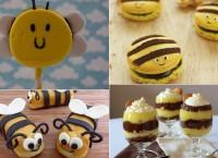 Яркие летние десерты в виде пчелок