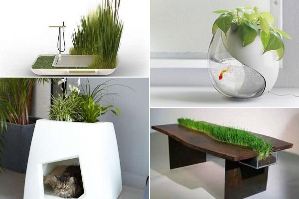Дизайнерские цветочные горшки, интегрированные в предметы быта