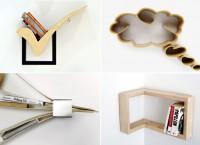 Обзор оригинальных и стильных книжных полок