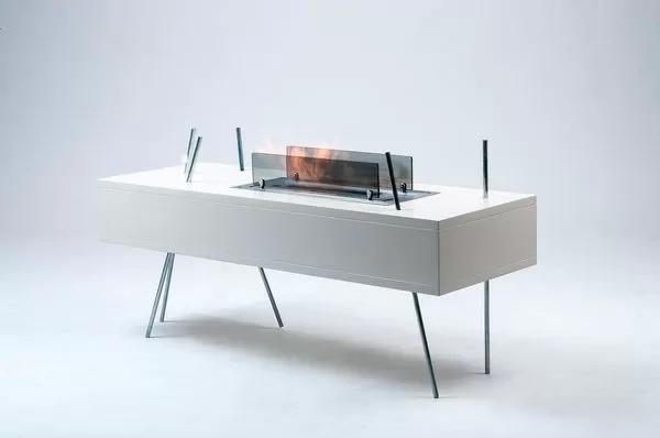 Coffee Table Fire Pit - кофейный столик-камин от Sara Armento