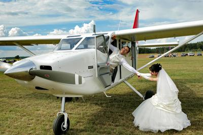 самолет на свадьбу